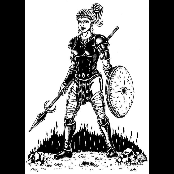 Amazon (Diablo 2) | pen drawing | 2012 on Behance