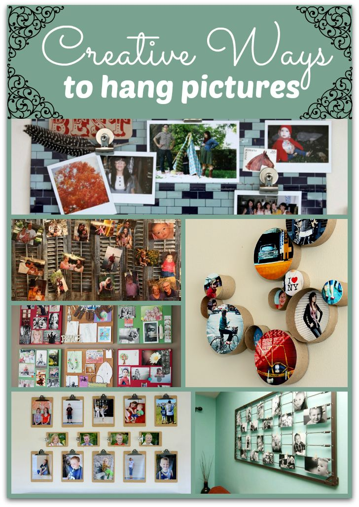 creative ways to hang pictures without frames | Creative Ideas ...