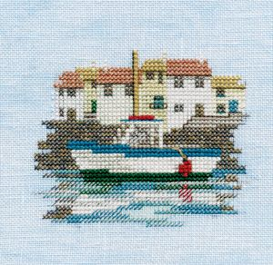 Harbour - Minuets Cross Stitch Kit from Derwentwater Designs
