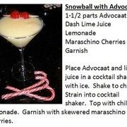 """""""Deck the Halls"""" Christmas Martinis - Advocaat Snowball Drink Recipe"""