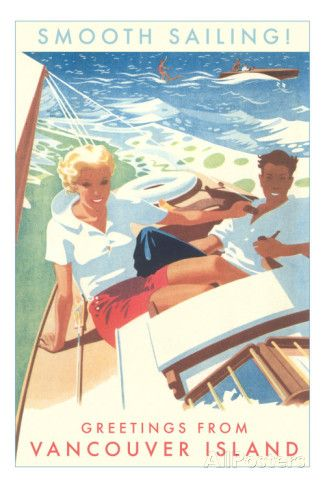 Smooth Sailing, Vancouver Island, Canada Posters at AllPosters.com
