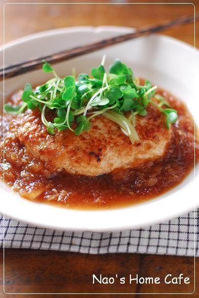 鶏ミンチと豆腐のみぞれあんかけハンバーグ by nao14himawarinさん ...