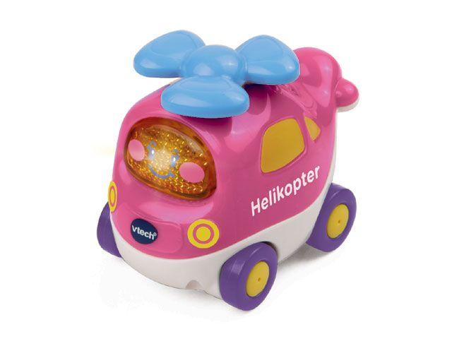 Set van 3 ROZE Toet toet autootjes. Breid jouw autocollectie uit met deze set van roze Toet Toet auto's van VTech. De set is speciaal voor meisjes en bestaat uit een auto, een helikopter en een ambulance. Set van 3 bij TOYBRANDS