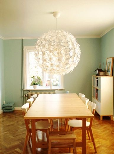 Ikea Maskros Light. Got this for the dining room. Hope it's bright enough. $49 #ikea #pendantlight