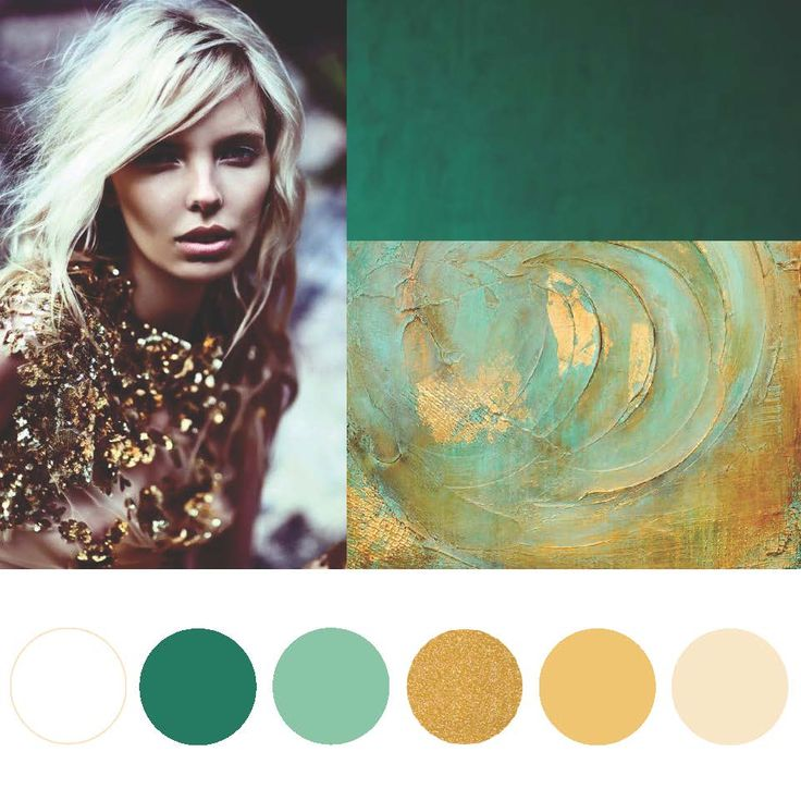Loving the rectangles on the right... deep green/teal and the gold