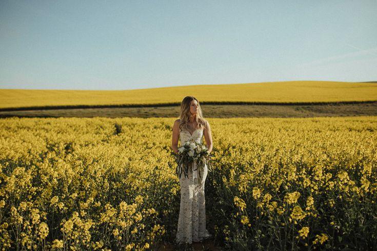 A Wander Through the Wildflowers | HOORAY! Mag | Canola Fields | Flower Fields | Lover The Label | Devojka Models | Moxom Whitney Florals | Bouquet Inspiration | Bridal Inspiration |