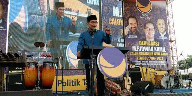 Dibeking Nasdem, Ridwan Kamil: Kenapa Partai Lain Banyak Pikiran ?