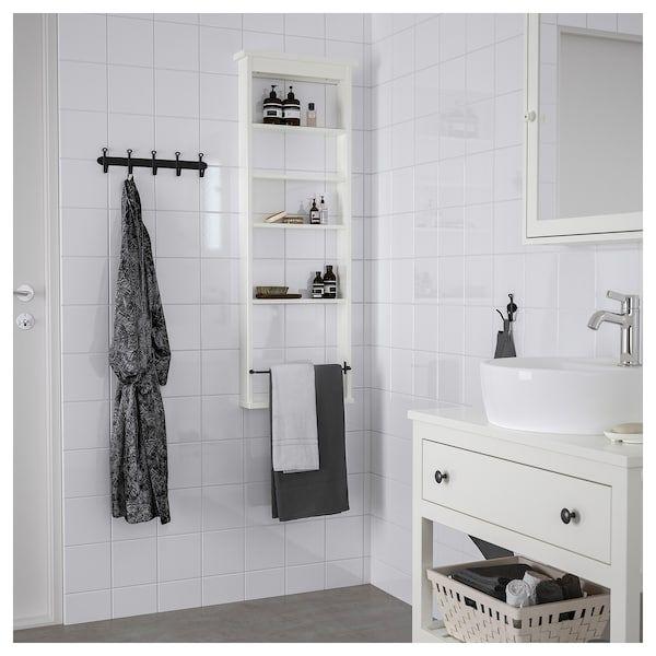 Hemnes Scaffale Da Parete Bianco 42x118 Cm Idee Bagno Piccolo Mensola A Muro Hemnes