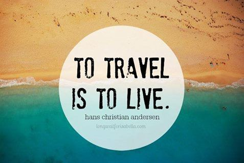 """""""To travel is to live.. - Hans Christian Andersen."""" #travel #live #dream #fly #roam #wanderlust #explore"""