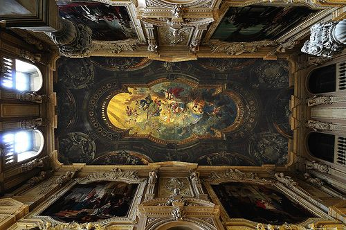 Turin, Italy (Hand painted ceiling at Palazzo Reale)
