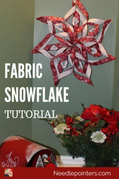 How to make a no sew Fabric SnowflakeStefania Bockmiller