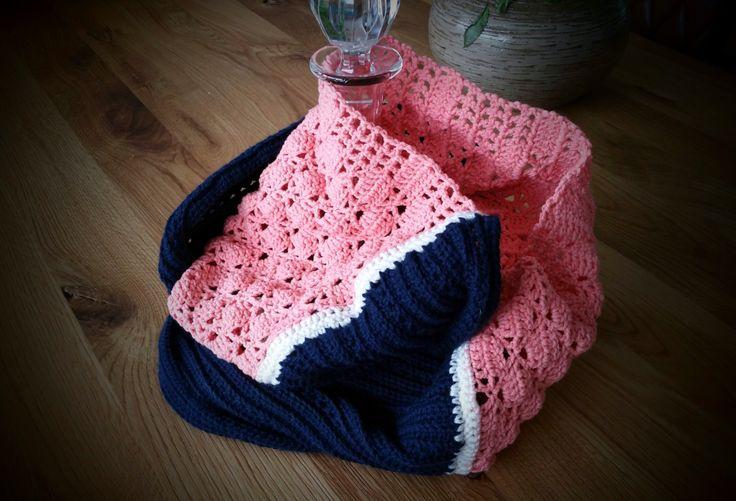 Haakpatroon vrolijke warme sjaal by Lovincotton on Etsy #crochet