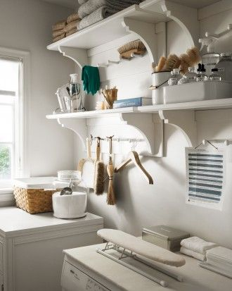 Turning a small pantry into a beautiful laundry room
