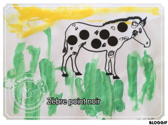 ZEBRE POINT ROND DIY motricité fine  DIY bricolage maternelle DIY bricolage assistante maternelle