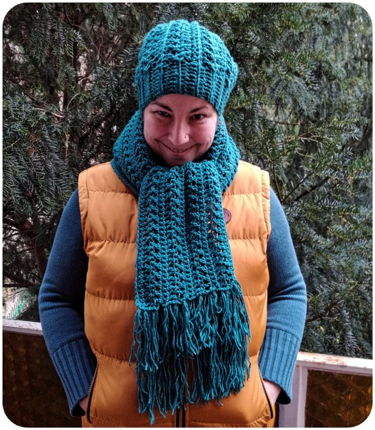 Hat with scarf free crochet pattern / Sapka és sál ingyenes minta (horgolás)