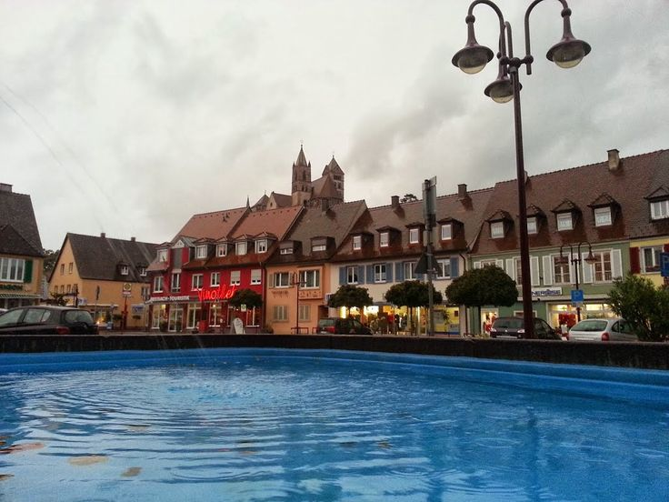 Breisach-am-Rhein, sous forte pluie