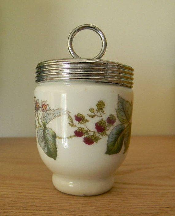 Vintage Royal Worcester Porcelain Egg Coddler  Lavinia