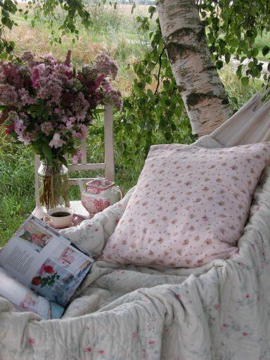 blissDreams, Lazy Day, Shabby Chic, Teas, Hammocks, Outdoor, Wonder Places, Book, English Country Gardens