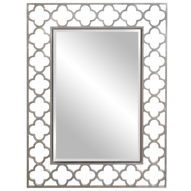 Wall Mirror With A Quatrefoil Openwork Frame In Blue Product Construction Material Resin And Mirrored Glass Color Royal Dimensions H X W