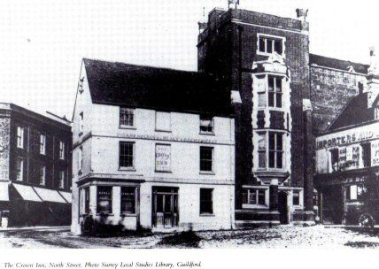 The Crown, North Street, Guildford.  Closed 1907.
