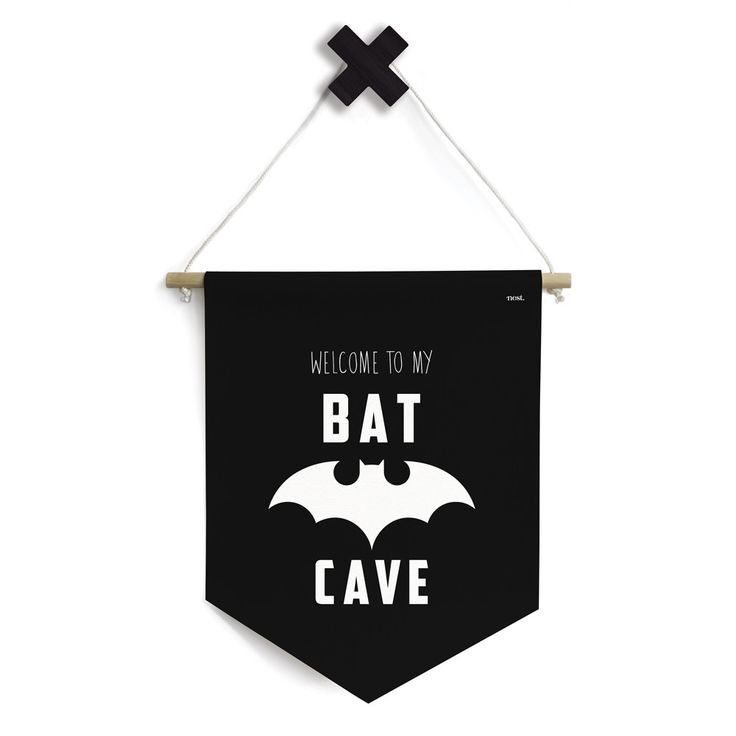 LOVE!  The Bat Cave Banner by Nest Accessories is the perfect way to finish off your little ones hideaway!    #batman #batcave #monochrome #kidsdecor #kidsroom #payroom #hideaway #childhood #baby #toddler #kids #designerkids #superhero #designerbaby #nursery #decor #style #interiors  #etsy #banner #littlebooteekau