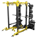 Our new HD Elite Power Rack- with side accessories - kettle bells