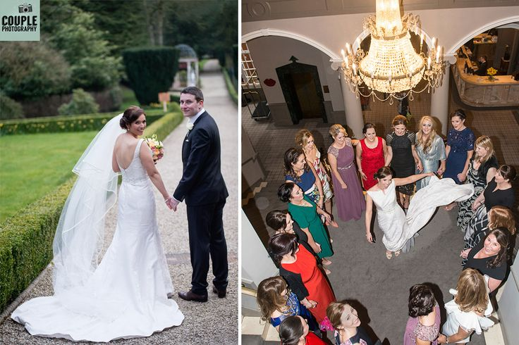 Fab wedding photos both inside and outside at Killashee House Hotel. Wedding photography by http://www.couple.ie