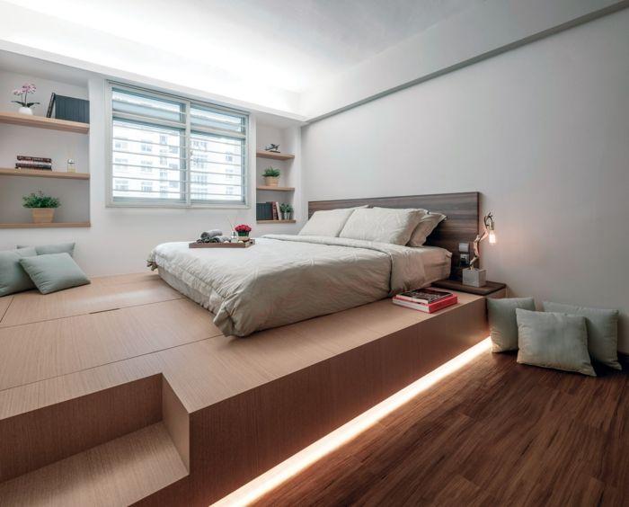 Estrade En Bois La Solution Pour Delimiter L Espace Dans La Maison Estrade En Bois Chambre De Studio Idee Chambre