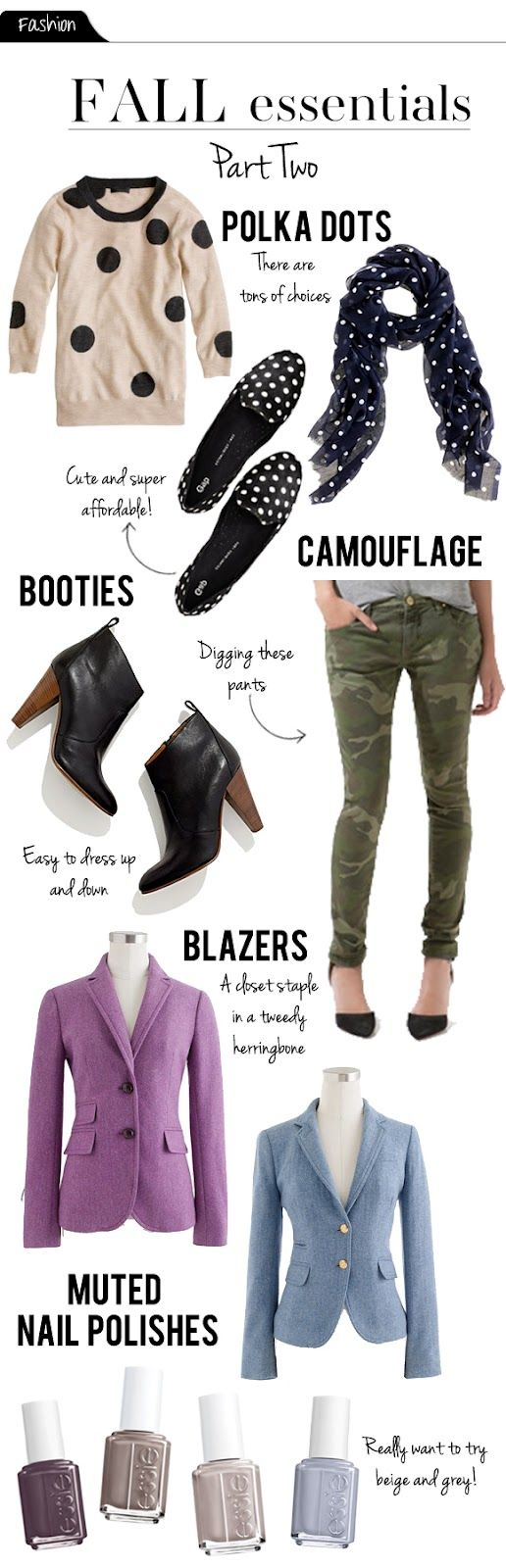 The Vault Files: Fashion file: Fall Essentials Part II