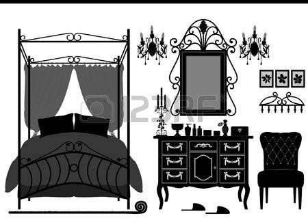 cornice vittoriana: Reale Camera da mobili antichi Vittoriano