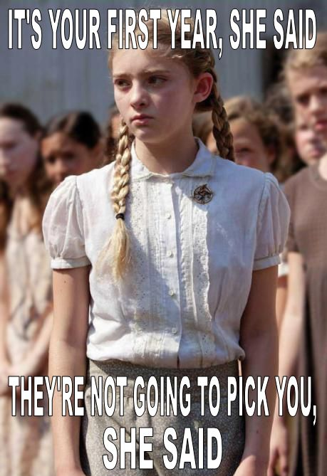 haha, poor Prim!: Favors, Willow Shield, The Hunger Games, Primrose, Book, Hungergam, Movie, Katniss Everdeen, Hunger Games Humor