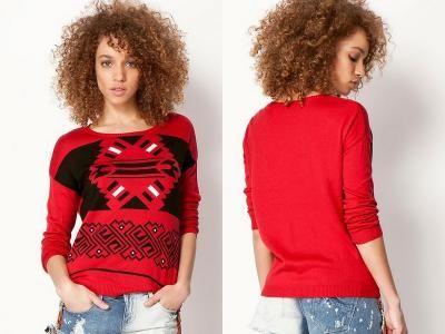 czerwony sweter na Feegle