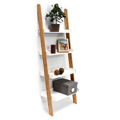 Relaxdays 144cm Leaning Bookcase | Wayfair.co.uk