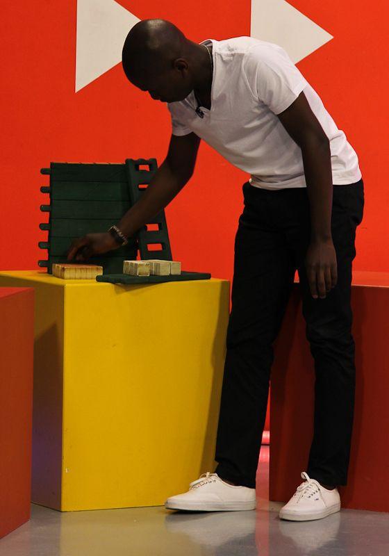 #BLCFinalist Rotenda Nevhutalu with his BriGado prototype on Hectic Nine 9. #BLCgems #BLCShowcase www.betterlivingchallenge.co.za