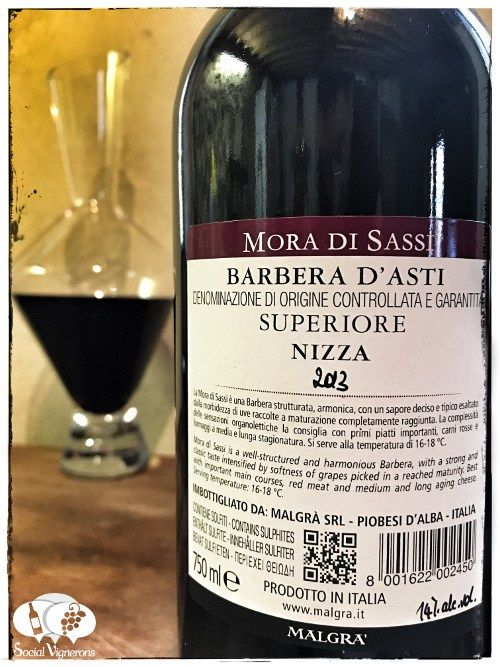 Score 91/100 Wine review, tasting notes, rating of Malgrà Mora di Sassi Barbera d'Asti Superiore Nizza. Description of aroma, flavors. Join the experience.