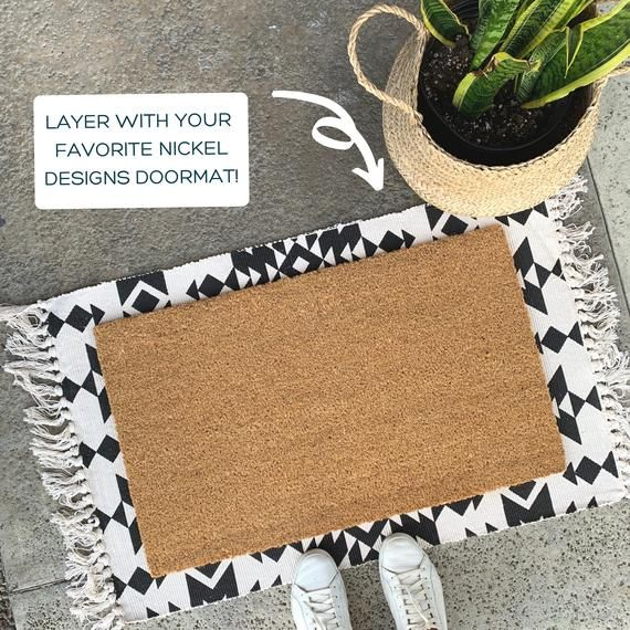 Black And White Pattern Rug Doormat Rug Scatter Rug Etsy In 2021 Modern Front Porch Decor Front Porch Decorating Front Door Rugs