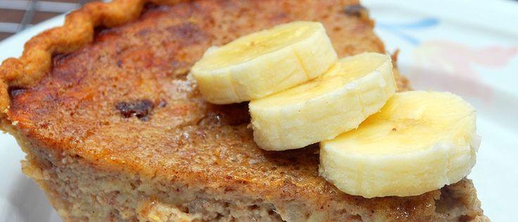 Torta light de banana - Lucilia Diniz