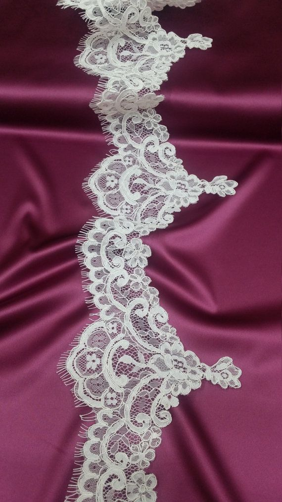 Ivory lace Trim French Lace Chantilly Lace Bridal by LaceToLove