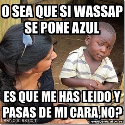 No te pierdas los mejores memes de las palomitas azules de WhatsApp - http://www.leanoticias.com/2014/11/07/no-te-pierdas-los-mejores-memes-de-las-palomitas-azules-de-whatsapp/