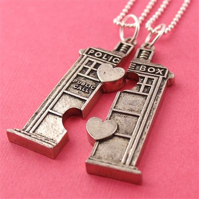 Doctor Who TARDIS Friendship Necklaces from Spiffing Jewelry!