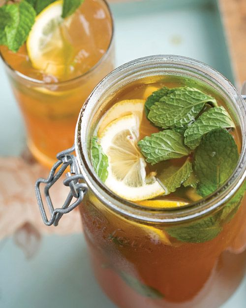 "Lemony Spiked Sweet Tea | This recipe is from ""Emeril at the Grill"" by Emeril Lagasse."