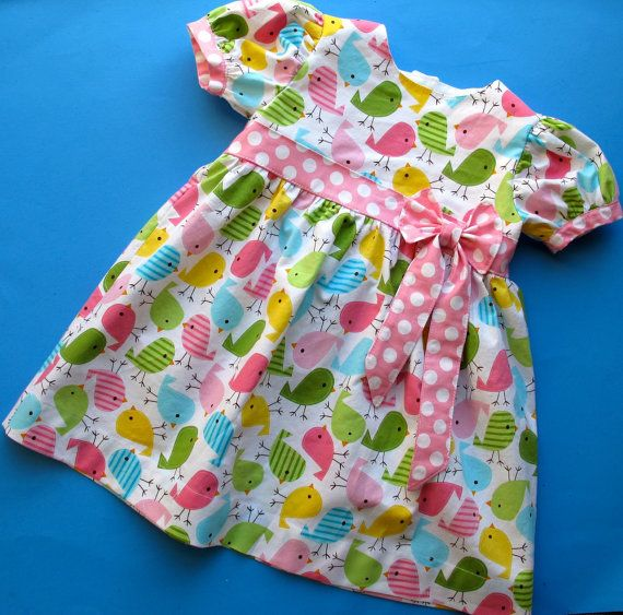 Short Sleeve Baby Dress Pattern - Classic Baby Dress Pattern with Bow - Infant to Toddler on Etsy, $7.95