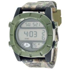 Mossy Oak Women's Digital Watch, Green Camo PU Leather Strap
