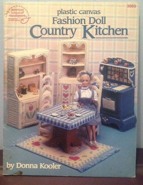 Plastic Canvas Fashion Doll Country Kitchen Pattern Furniture Sets Plastic Canvas And Country
