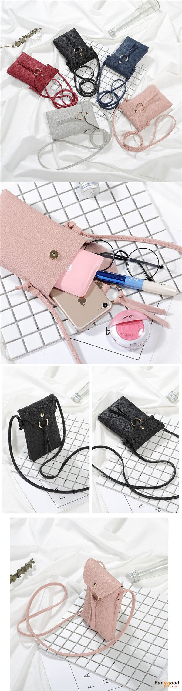 US$7.99 + Free shipping. Women Wallet, Long Wallet, Coin Holder, Card Holder, Phone Bag. Color: Black, White, Pink, Red, Blue. Magnetic buckle. Large capacity.