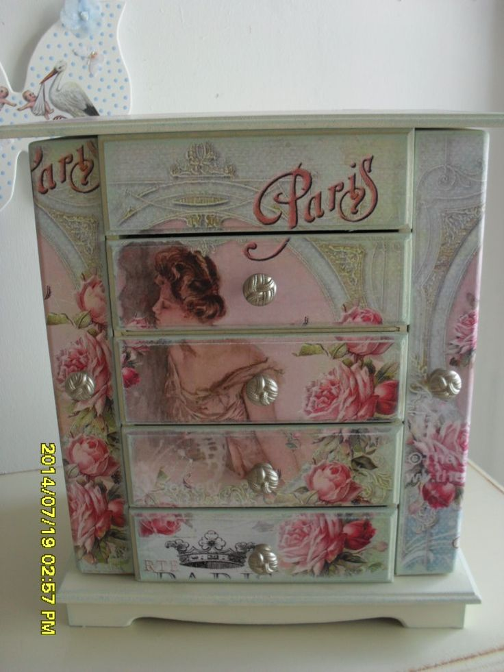 215 best JEWELLERY BOX MAKEOVERS images on Pinterest Wooden case