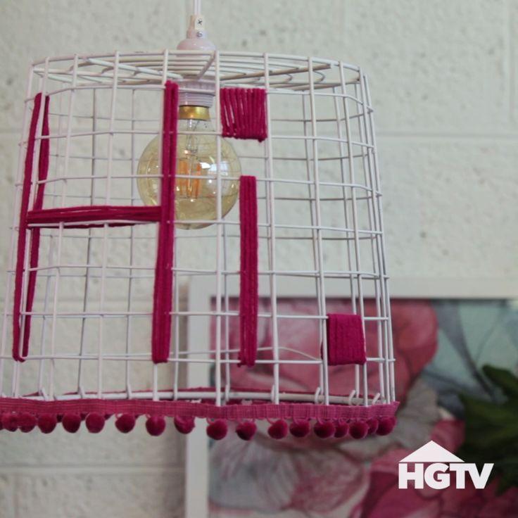 DIY Wire Basket Light                                                                                                                                                                                 More