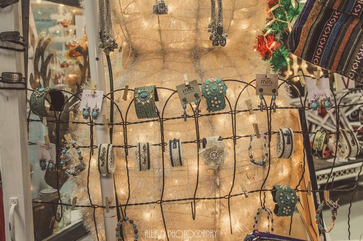"""Use old fencing to hang jewelry on for a booth display. """"Junk Salvation"""" by Funky Junk Sisters"""
