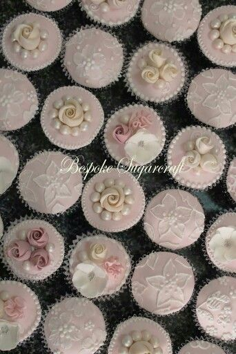 Pink,white and ivory cupcakes
