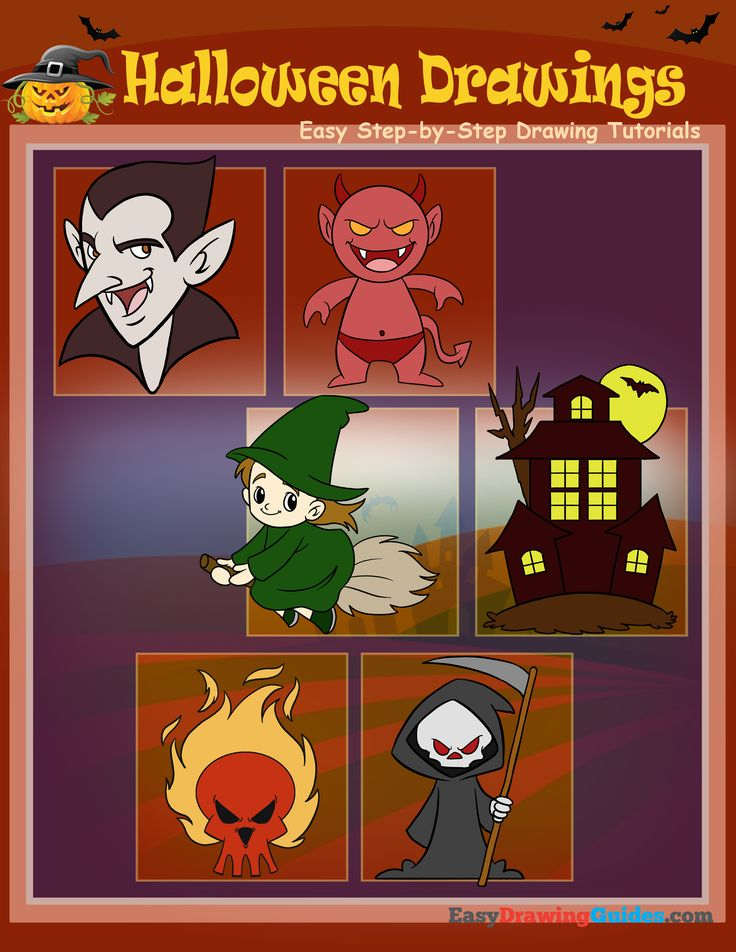 140 best How to Draw Halloween: Scary Drawing Ideas for ...